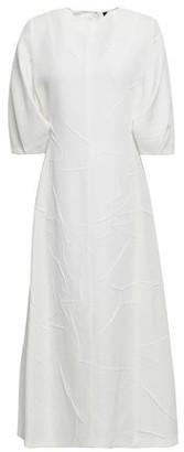 Joseph Crinkled Woven Midi Dress