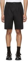 Marni Black Cotton Twill Shorts