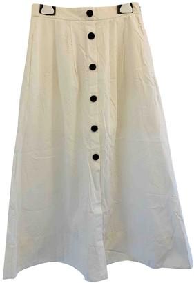 Maje Spring Summer 2020 White Cotton Skirt for Women