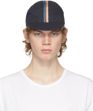 Paul Smith Navy Artist Stripe Cycling Cap