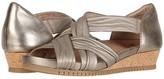 Earth Gemini (Washed Gold Scrunch Metallic Mooshie) Women's Wedge Shoes