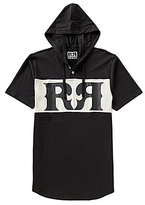 "Rock Revival Boxed In Double ""R"" Logo Hooded Short-Sleeve Henley Tee"