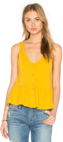 Lucca Couture Button Front Tank