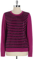 MICHAEL Michael Kors Sequin Striped Sweater
