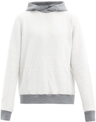 Rick Owens Contrasting Inside-out Hooded Cotton Sweatshirt - Grey