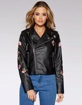 Quiz Pu Embroidered Jacket