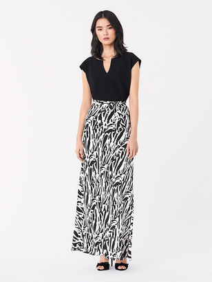 Diane von Furstenberg Jacklyn Satin-Back Crepe Top