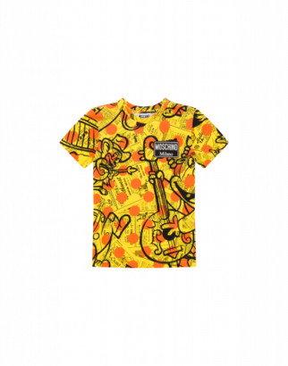 Moschino Yellow Pages T-shirt Man Yellow Size 4a It - (4y Us)