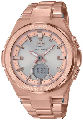 Baby-G MSGS200DG-4A Stainless Steel and Rose Gold Watch