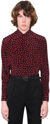 Saint Laurent Printed Silk Crepe Shirt