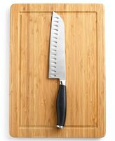 Collection Santoku Knife with Bamboo Board, 7
