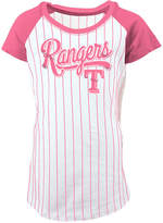 5th & Ocean Texas Rangers Pinstripe T-Shirt, Girls (4-16)