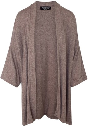 Haris Cotton Wool-Blend Loose Fit Cardigan Mocha