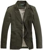 Cccken Men's Military Slim Fit Button Fly Blazer Cotton Sport Outwear Jacket( US M=Asia XL 1320#)