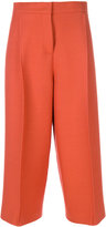 Fendi cropped tailored trousers - women - Silk/Wool - 40