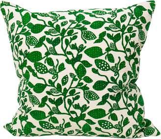 Afroart - 50x50cm Green Birch Pattern Cushion Cover - cotton   50x50cm - Green/Green