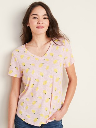 Old Navy EveryWear Printed V-Neck Tee for Women