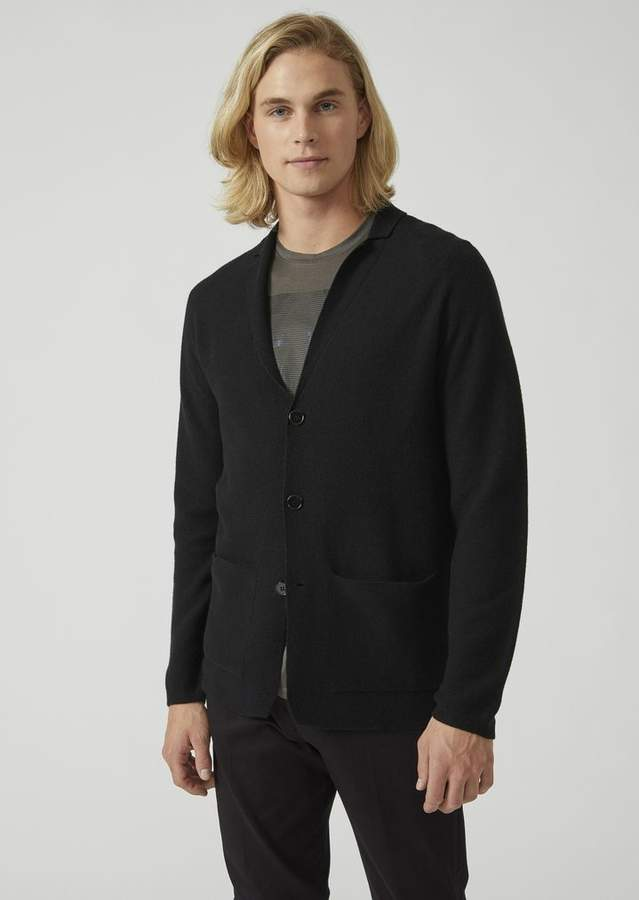 Emporio Armani Seamless Jacket In Wool, Silk And Cashmere