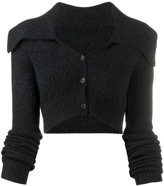Helmut Lang Cropped Knit Cardigan