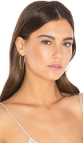 Ef Collection Oval Hoop Earring