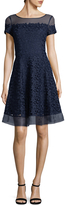 Karl Lagerfeld Women's Lace Embroidery Flare Dress