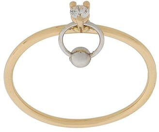 Delfina Delettrez 18kt yellow and white gold Two In One diamond ring
