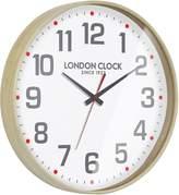 London Clock Company Boho Wooden Wall Clock, 41cm