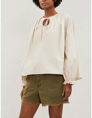 Free People Tomboy linen-blend shorts