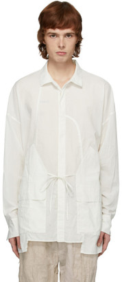 Ziggy Chen White Pocket Overshirt Jacket