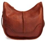 Frye Cara Leather Saddle Bag - Brown