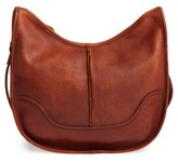 Frye Cara Leather Saddle Bag - Purple
