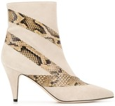 Couture Gia 85mm pointed snakeskin effect boots