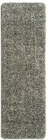 "Ottomanson Luxury Collection Solid Shag Runner Rug with (Non-Slip/Rubber-Backing) Bathroom Mat, Grey, 20"" x 59"""
