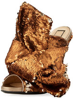 No.21 No. 21 Sequined Bow Mule Sandal