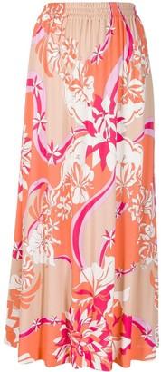 Emilio Pucci Floral Long Skirt