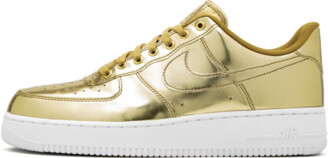 Nike Womens Air Force 1 SP 'Metallic Gold' Shoes - Size 6W