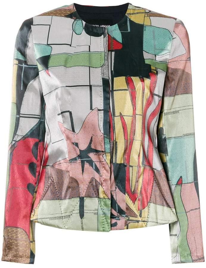 Giorgio Armani printed shirt jacket