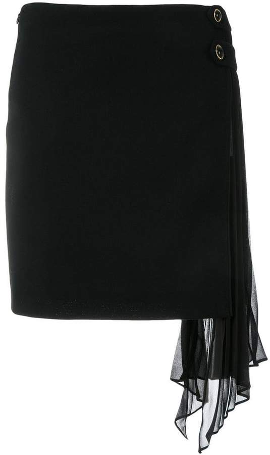 Givenchy side-frill fitted skirt