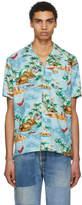 Levi's Levis Blue Pelican Cameo Hawaiian Shirt