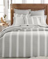 Martha Stewart Bedding Willow Stripe Flannel Euro Sham Grey B1263