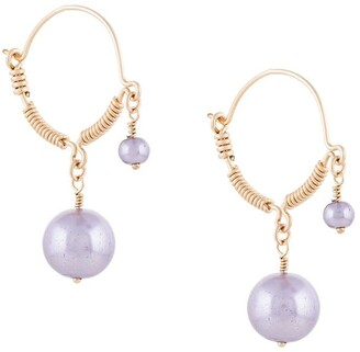 Petite Grand Faux-Pearl Wire Detail Earrings