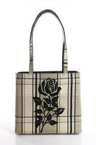 Isabella Fiore Multi-Color Canvas Plaid Print Shoulder Handbag