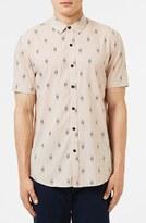 Topman Men's Print Short Sleeve Shirt