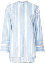 Enfold striped asymmetric shirt