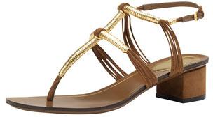 Gucci Low-Heel Thong Sandal, Brown