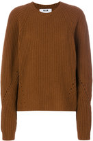 MSGM ribbed jumper - women - Polyamide/Wool - XS