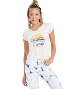 Style&Co. Style & Co California Waves Graphic T-Shirt, Created for Macy's