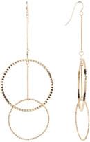 Natasha Accessories Multi-Textured Circle Earrings