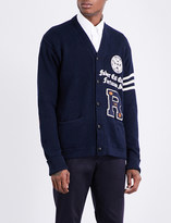 Polo Ralph Lauren Varsity-embroidered cotton and linen-blend cardigan