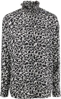 Etoile Isabel Marant Long-Sleeved Smocked Collar Blouse